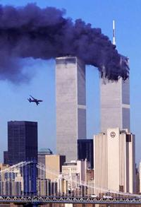 Photo of Twin Towers, September 11 2001